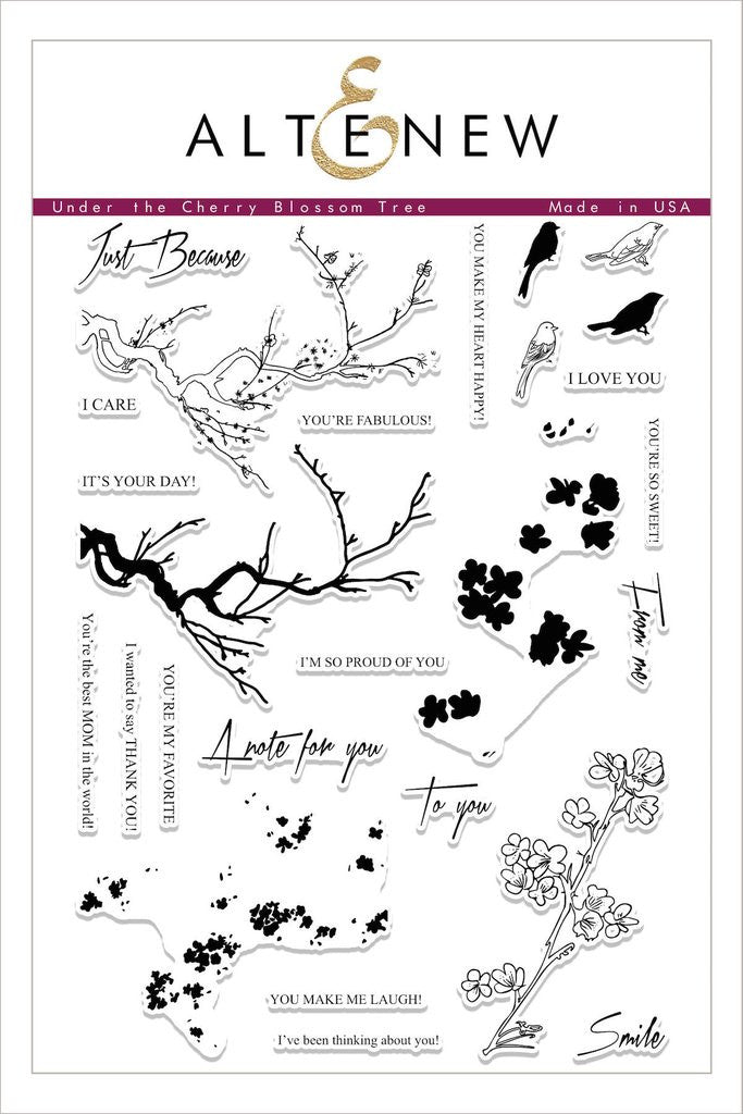 Under the Cherry Blossom Tree Stamp Set