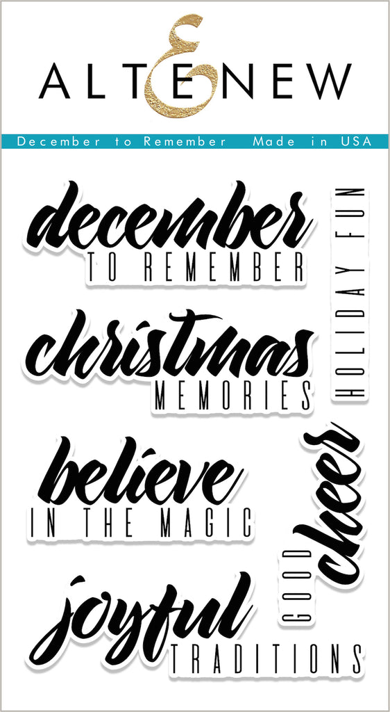 December To Remember Stamp Set