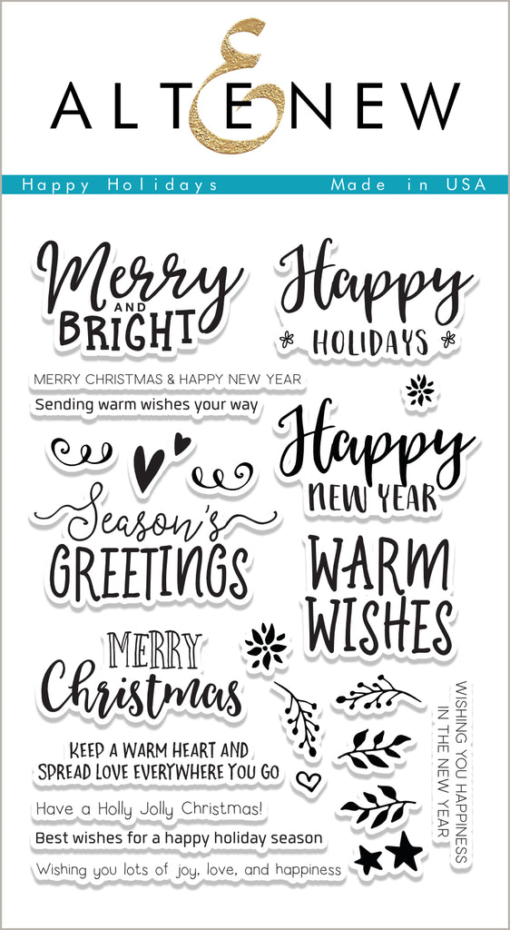 Happy Holidays Stamp Set