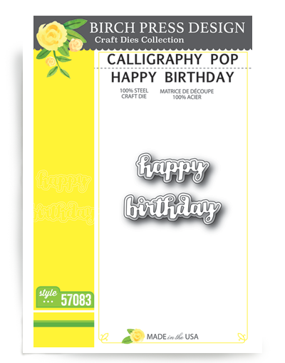 Calligraphy Pop Happy Birthday