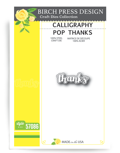 Calligraphy Pop Thanks