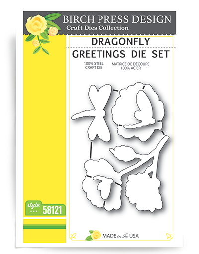 Dragonfly Geetings Die Set