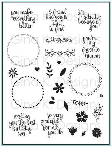 Clear Stamps Original Wreath Builder Stamp Set (stamp set only)