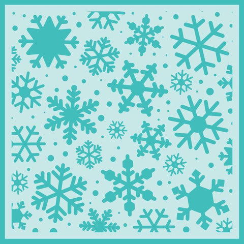 Snowfall Background Stencil