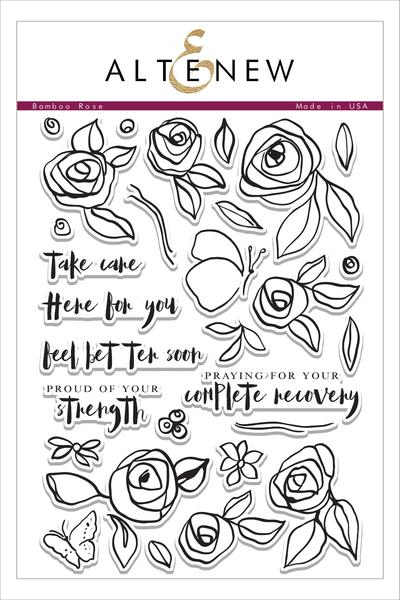 Bamboo Rose Stamp Set