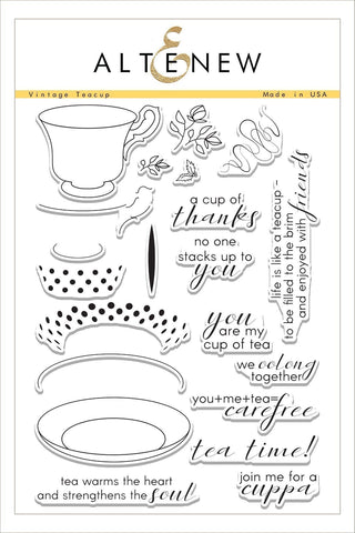 Vintage Teacups Stamp Set