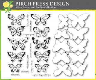 Lovely Butterflies Clear Stamp and Die Set