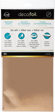 "Deco Foil 6"" x 12"" Sheets (20) - Rose Gold"