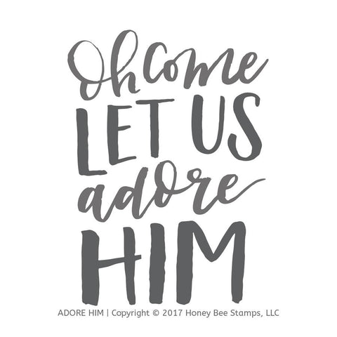 Adore Him Stamp Set