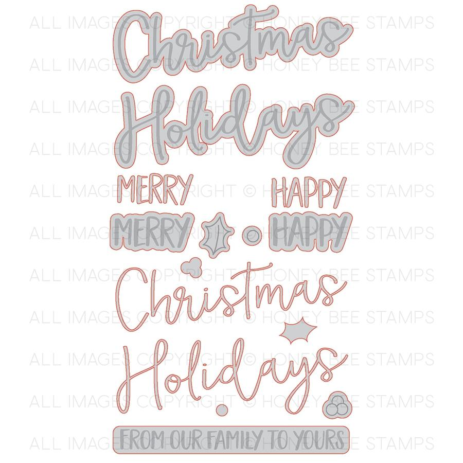 Merry Christmas Honey Cuts – Bumbleberry Papercrafts