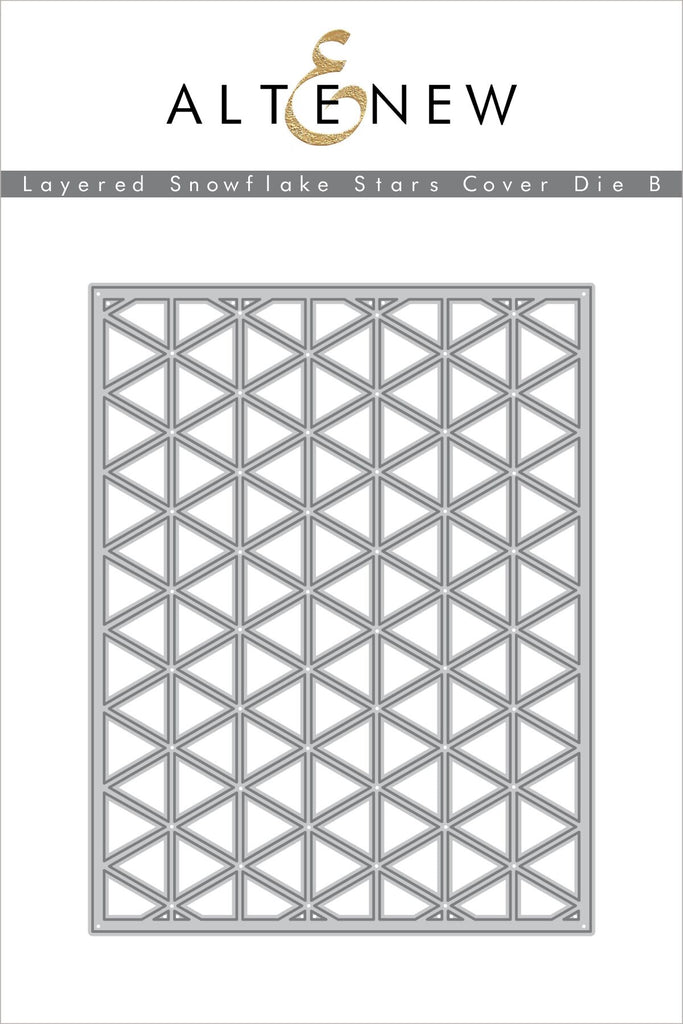 Layered Snowflake Stars Cover Die B
