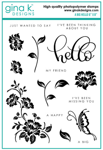 Clear Stamps - A Big Hello