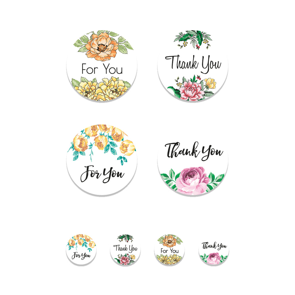Floral Favor Stickers