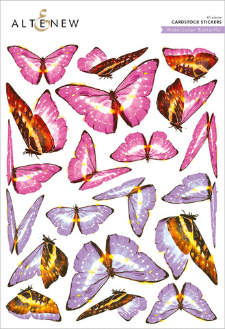 Watercolor Butterfly Cardstock Stickers