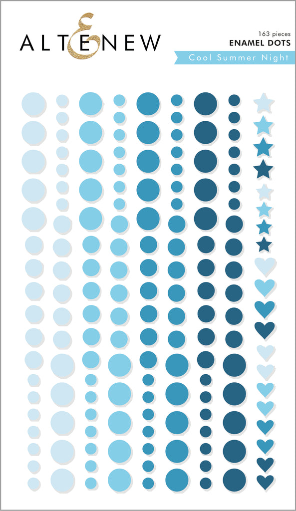 Cool Summer Nights Enamel Dots