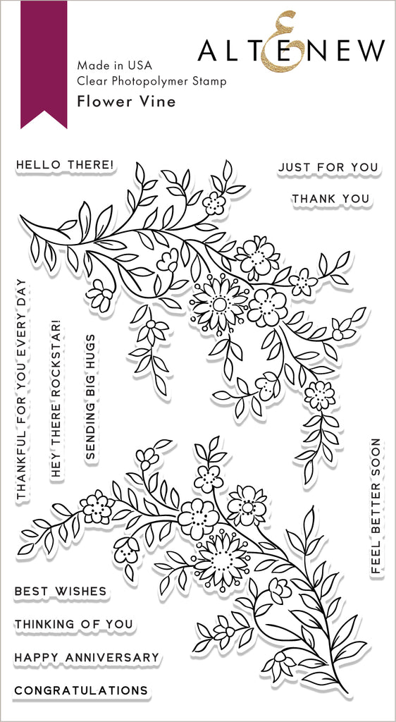 Flower Vine Stamp Set