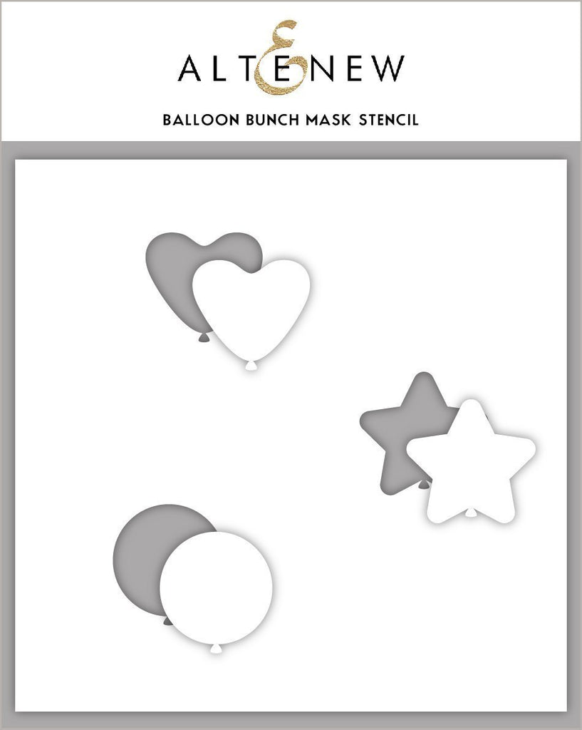 Balloon Bunch Mask Stencil