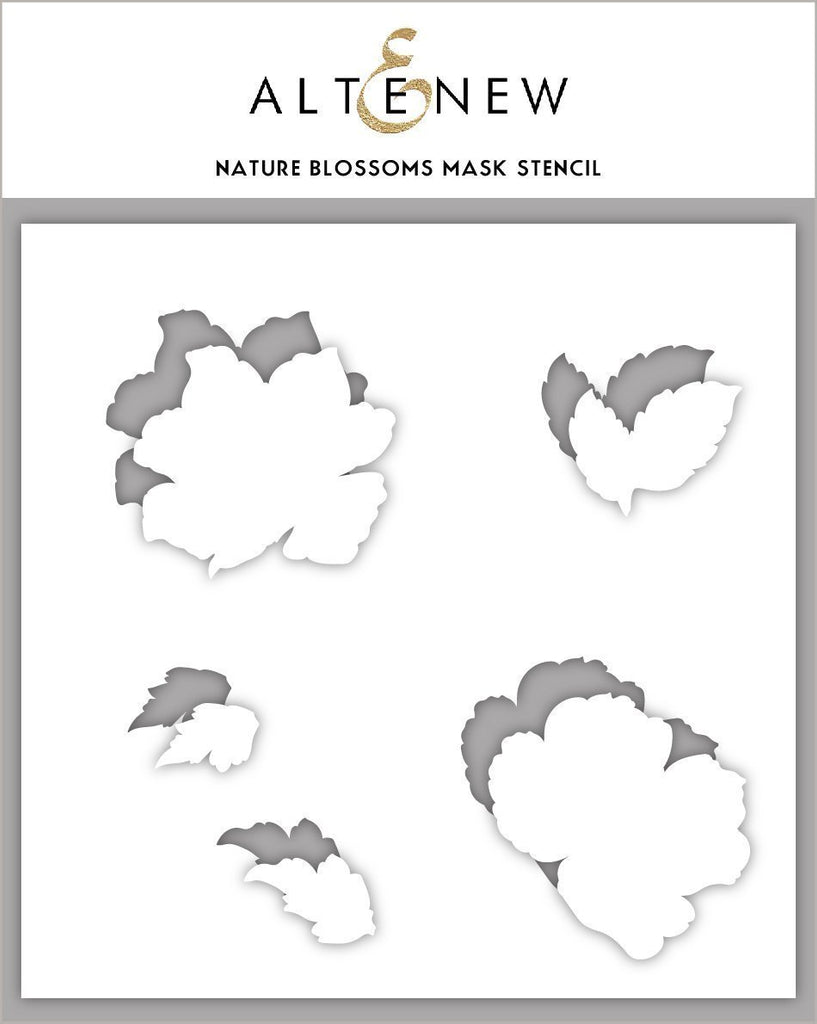 Nature Blossoms Mask Stencil