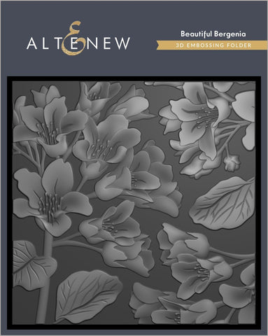Beautiful Bergenia 3D Embossing Folder