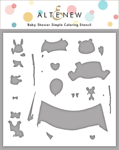 Baby Shower Simple Coloring Stencil