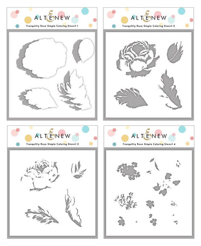 Tranquility Rose Simple Coloring Stencil Set