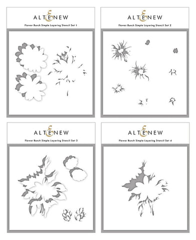 Flower Bunch Simple Layering Stencil Set (4 in 1)