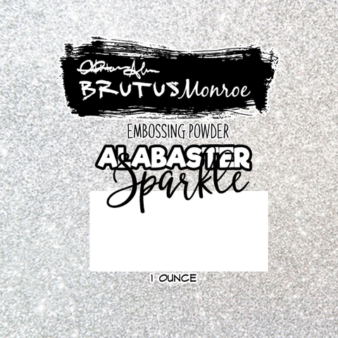 Alabaster Sparkle Embossing Powder