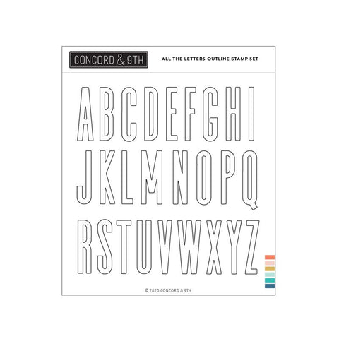 All the Letters Outline Stamp Set