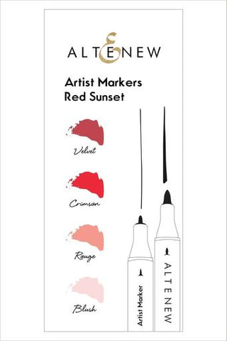 Artist Markers Red Sunset Set