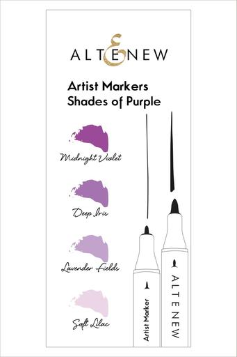 Artist Markers Shades of Purple Set