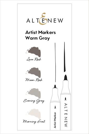 Artist Markers Warm Gray Set