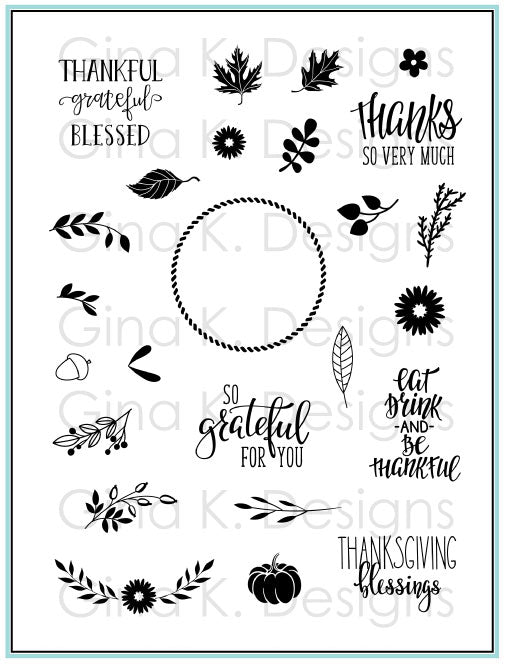 Clear Stamps - Autumn Wreath Builder