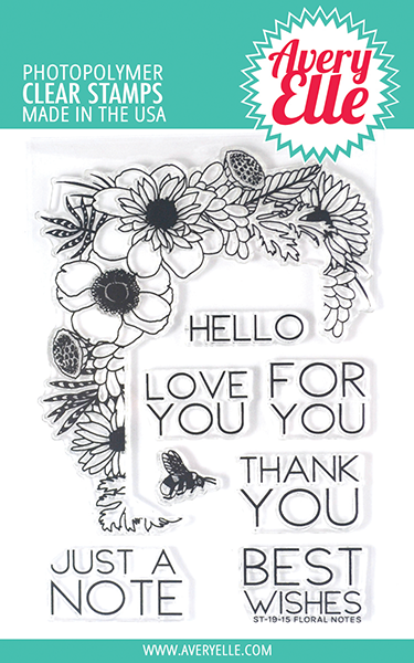 Floral Notes Clear Stamps