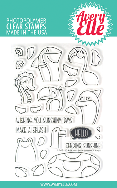 Peek-a-boo Summer Pals Clear Stamps