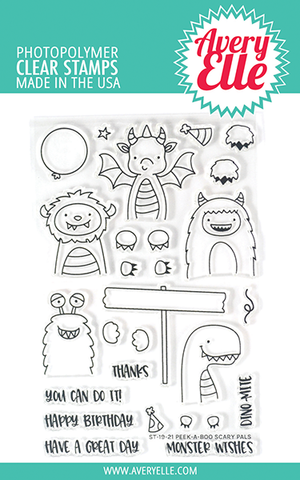 Peek-a-boo Scary Pals Clear Stamps