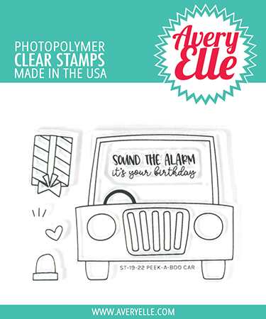 Peek-a-Boo Car Clear Stamps