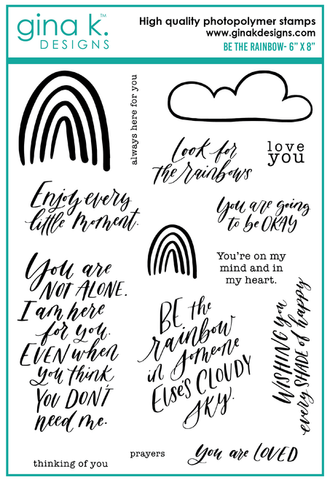 Clear Stamps Be The Rainbow Stamp Set