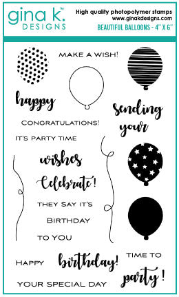 Beautiful Balloons Stamp Set