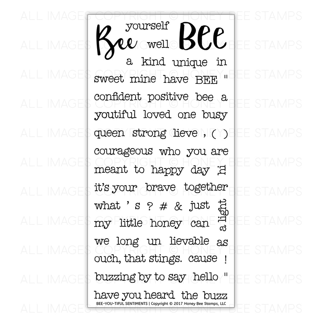 Bee-You-Tiful Sentiments Stamp Set
