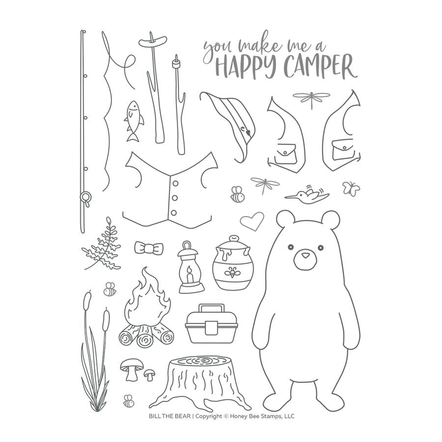 Bill The Bear Stamp Set