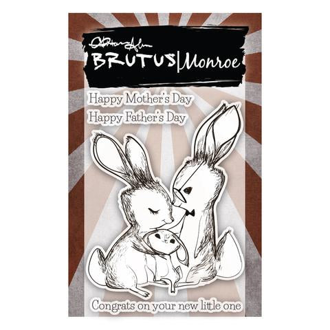 Bunny Kisses - 3x4 Stamp