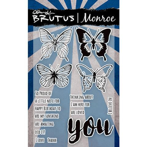 Butterfly Sentiments - 4x6 stamp