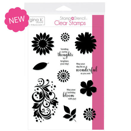 GKD Stamp & Stencils Crazy Daisy Stamp Set