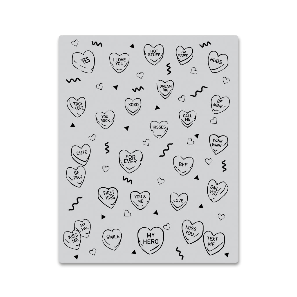Candy Hearts Peek-a-boo Cling