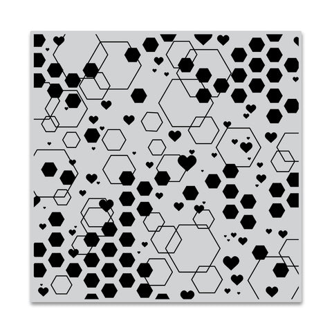 Abstract Honeycomb Bold Prints