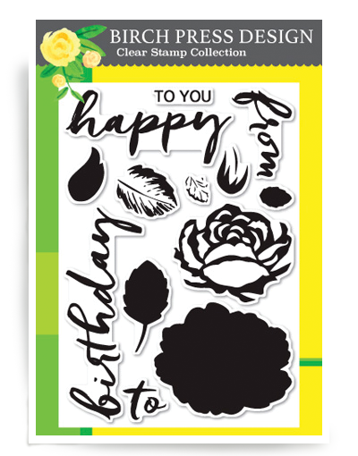 Brushed Birthday Greetings Clear Stamp Set