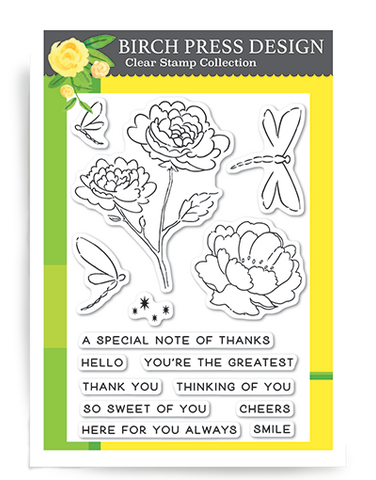 Dragonfly Geetings Clear Stamp Set