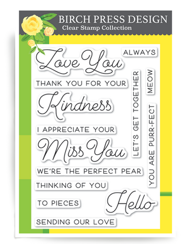 Love and Miss You Clear Stamp Set