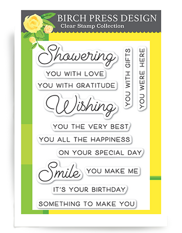 Wishing You the Best clear stamp set