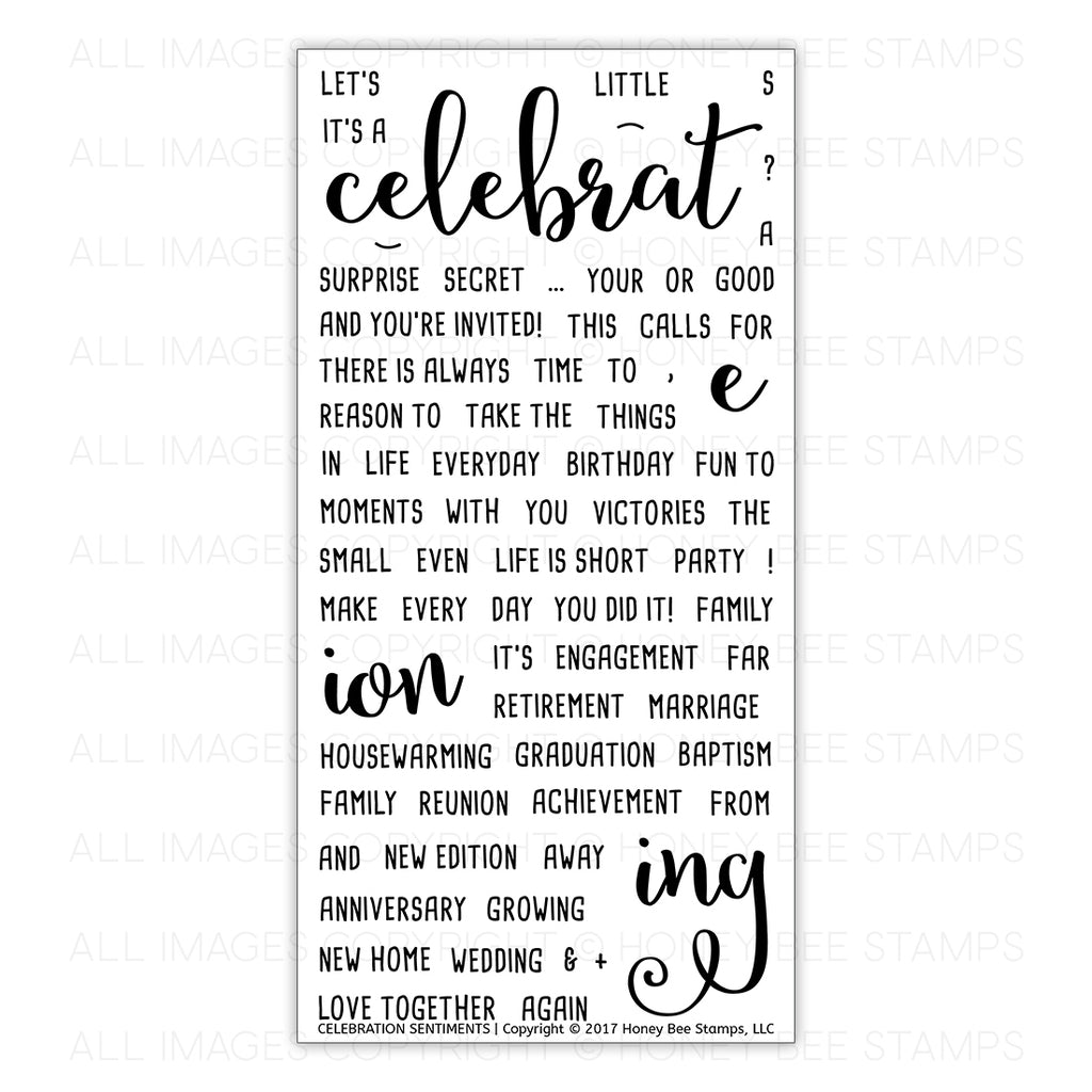 Celebration Sentiments Stamp Set